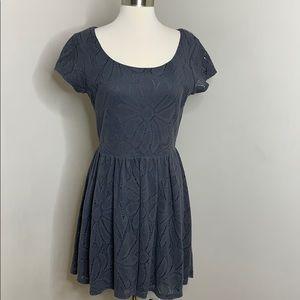 LC Lauren Conrad Grey Lace Dress